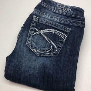 RETRO SILVER TUESDAY WESTERN JEANS 28x33 99% COTTON 😎